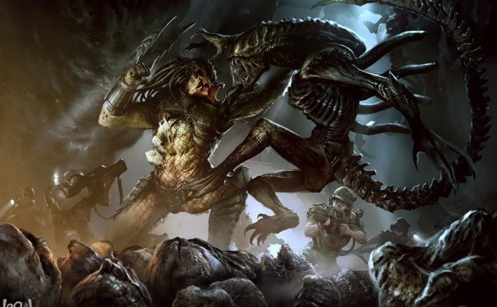 image from Alien vs Predator - What on Earth Got a Hold of This Guy