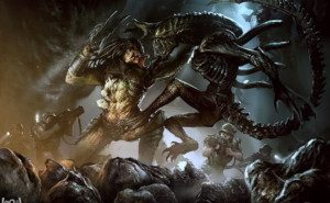 image from Aliens vs Predator - What on Earth Got a Hold of This Guy